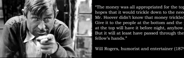 Will Rogers on Universal Basic Income